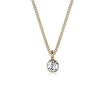 Elli Women's Necklace in Silver 925 with Swarovski Crystal