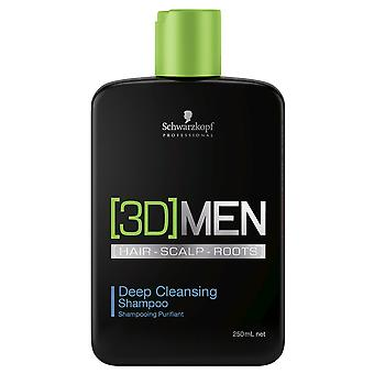 Schwarzkopf 3D Men Deep Cleansing Shampoo 250ml