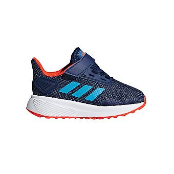 adidas Duramo 9 Infant Kids Fashion Trainer Shoe Blue/Orange
