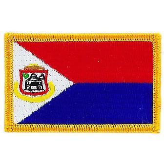 Aufnäher Brode Flagge Saint Martin Marteen Thermocollant Insigne Blason