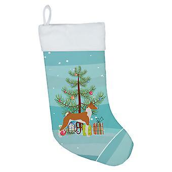 Carolines Treasures BB2992CS basenji hyvää joulu kuusen joulu sukat