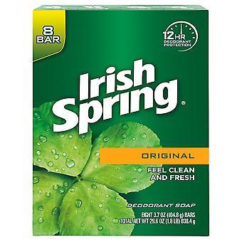 Irish Spring Deodorant Bar Soap, 3.75 oz, 8 ct