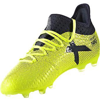 adidas Performance Kids X 17.1 Firm Ground Football Sports Training Boots Yellow