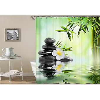 Plumeria And Bamboo Spa Shower Curtain