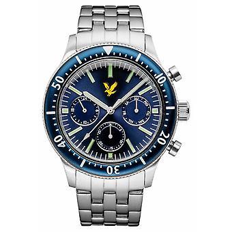 Lyle & Scott Mens Jacklin acero inoxidable Pulsera esfera azul LS-6009-22 reloj