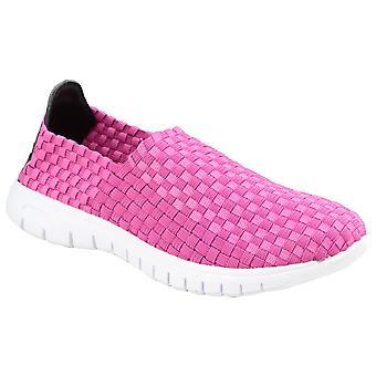 Divaz Womens/Ladies Raft Slip On Woven Shoes