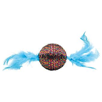 Happy Pet Xmas Festive Feather Rattle Cat Toy