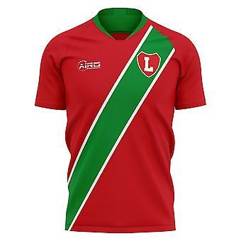 2020-2021 ロコモティフモスクワホームコンセプトフットボールシャツ