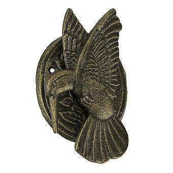 Kolibri-Türklopfer Gusseisen Bronze-Finish