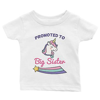 Promoted To Big Sister Cute Baby Announcement Baby Gift Tee White