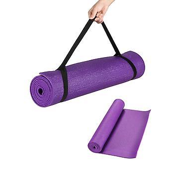 Kabalo - 173cm lang x 61cm breit - EXTRA Dicke 6mm - rutschfeste Yogamatte mit Tragegurt, auch für Übung / Pilates / Fitnessraum / Camping, etc.