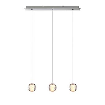 Brillcool Venus Nickel Three Pendant w/ Rectangular Canopy