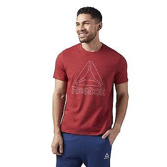リーボックマーブルメランジュティーCE3923トレーニング夏の男性Tシャツ