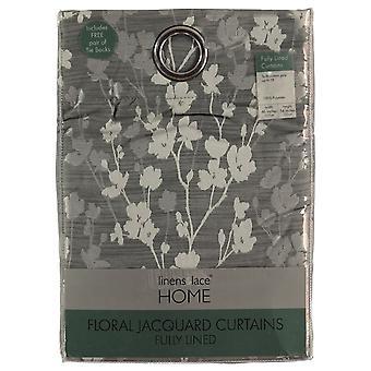 Linens and Lace Unisex Floral Jacq Curtain 92