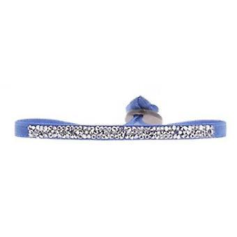 Les vaihdettavissa ranne koru A39701-Ultra Fine Rocks Blue Crystal naiset