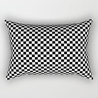 Square black & white rectangle pillow