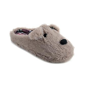 SlumberzzZ Womens fausse fourrure chien Mule pantoufles