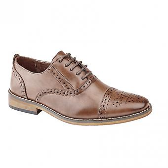 Goor Francis Boys Lace Up Brogue Oxford Chaussures Brown