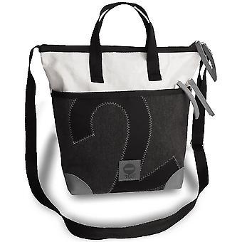 360 graden canvas tas, speciale editie, Deern mini schoudertas witte antraciet grijs