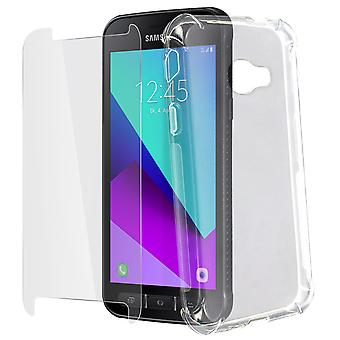 Silicone Cover for Galaxy Xcover 4&4s & Tempered Glass Film-4Smarts, Transparent