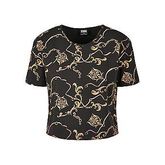 Urban Classics Damen T-Shirt AOP Luxury Print Short Oversized