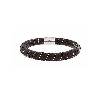 MANUEL ZED - Brown Leather Bracelet - L2186 0011