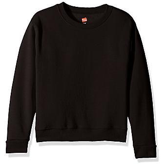 Hanes Girls' Big Girls' Comfortsoft Ecosmart Fleece, Black, Size Medium