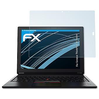 atFoliX Película Vidrio compatible con Lenovo ThinkPad X1 Tablet 9H Armadura protectora
