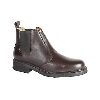 Roamers Brown Leather Chelsea Boot Leather Sock Stout Grip Tr Sole