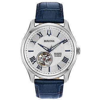Bulova Men's | Wilton | Automatic | Blue Leather Strap 96A206 Watch