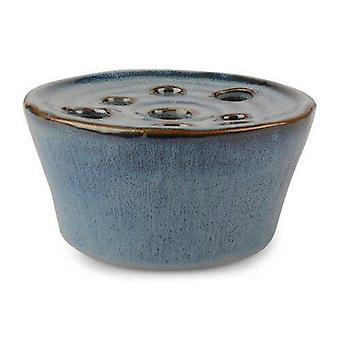 Azul cerâmica vaso