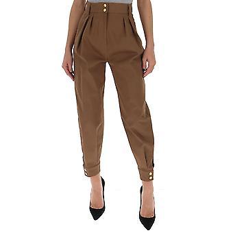 Alberta Ferretti 03050124v0096 Mujeres's Pantalones de Algodón Marrón