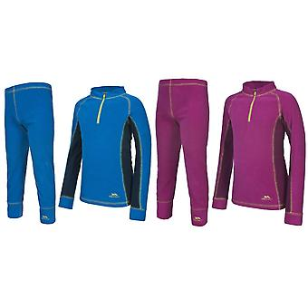 Trespass barnens/ungar bubblor Fleece Baselayer Set