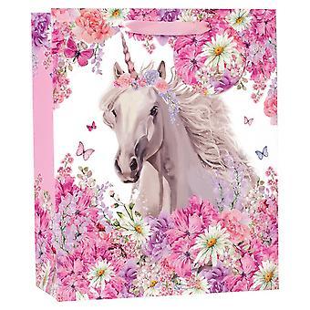 Simon Elvin Floral Unicorn Foil Gift Bag (Pack of 6)