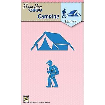 Nellie's Scelta Forma Muore Vacanze Camping SDB047 92x43mm
