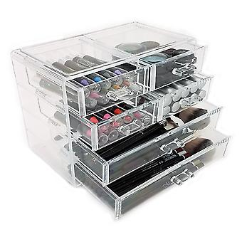 OnDisplay Cosmetic Makeup and Jewelry Storage Case Display - 6 Drawer Design - Perfecto para Vanity, Bathroom Counter o Dresser