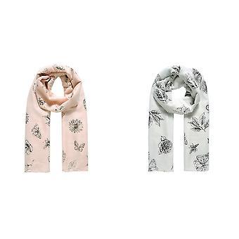 Jewelcity Dames / Dames Botanische Folie Print Sjaal