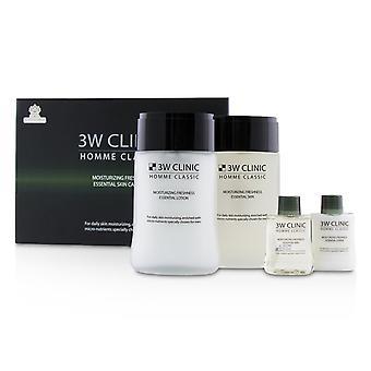 Homme klassinen kosteuttava tuoreus välttämätön ihonhoitosetti: olennainen iho 150ml + 30ml + olennainen voide 150ml + 30ml 228261 4kpl
