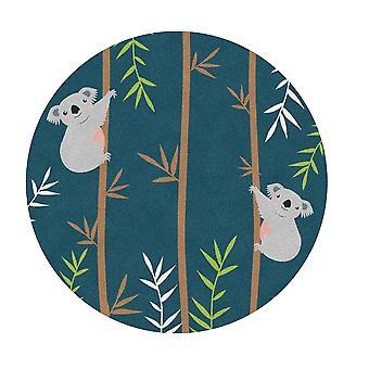 Kids Rug - Koala - Washable - Circle 150 cm