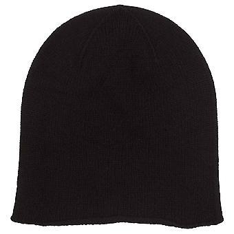 Johnstons of Elgin Jersey Roll Trim Hat - Black