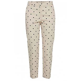 b.young Spot Print Trousers