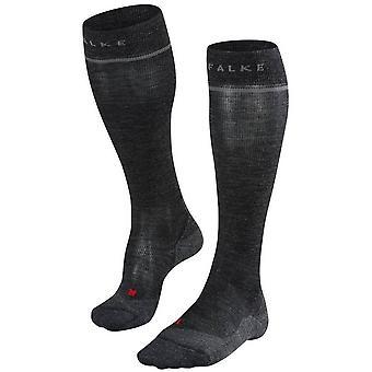 Falke Energizing Wool Knee Calzini alti - Asphalt Melange Grey