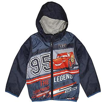 Disney cars boys coat zip hoodie rain jacket