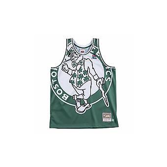 Mitchell & Ness Nba Big Face Jersey Boston Celtics MSTKBW19068BCEGREN universal summer men t-shirt