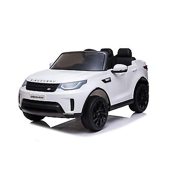 licenced land rover discovery white 12v 5a kids electric ride on car one seater