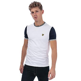 Men's Lyle And Scott Tipped T-Shirt in White