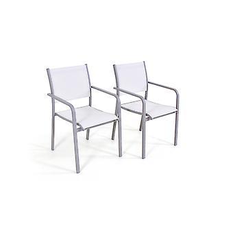 Alu Chair Tex B, 2 stuks - zijdegrijs