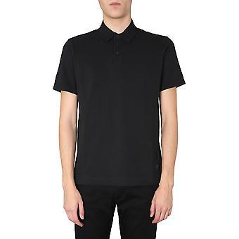 Z Zegna Vu309zz7d1k09 Männer's schwarze Baumwolle Polo Shirt