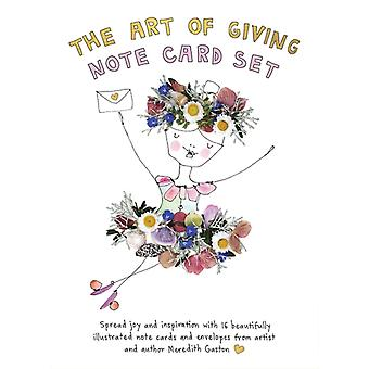 The Art of Giving Note Card Set  16 beautifully illustrated note cards with envelopes featuring messages of joy and inspiration by Meredith Gaston
