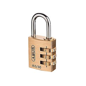 ABUS 165/30 30mm Solid Brass Body Combination Padlock (3-Digit) Carded ABU16530C